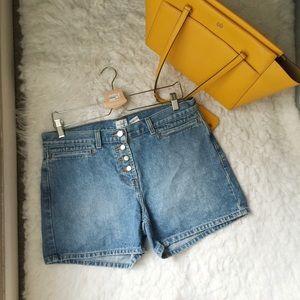 Calvin Klein Jeans High Rise Denim Shorts.-G5.